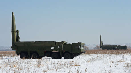 Complejos de misiles Iskander-M durante unos ejercicios, Primorie, Rusia, 17 de noviembre de 2016.