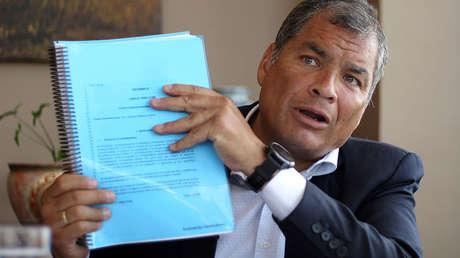 Correa habla con agencia de noticias internacional, en Quito, Ecuador, el 30 de enero de 2018.