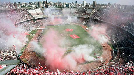 Clásico entre River y Boca en el estadio 'Monumental', Ciudad de Buenos Aires, octubre del 2008.