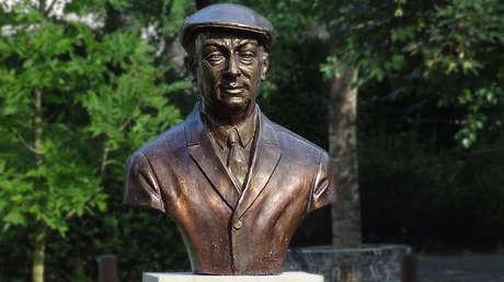 Busto de Pablo Neruda en la Universidad de Bremen, Alemania.