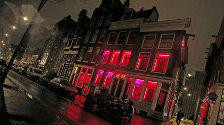 Distrito rojo de Ámsterdam, Países Bajos, el 21 de diciembre de 2012.