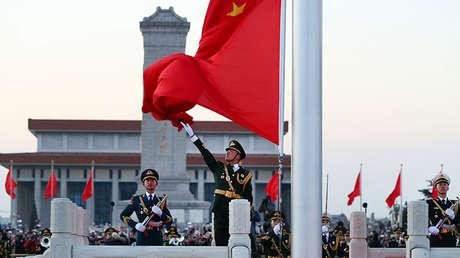 Militares chinos en Pekín, el 1 de enero de 2018.