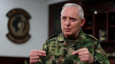 El comandante de las Fuerzas Militares de Colombia, general Alberto Mejía.