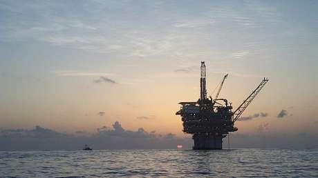 La plataforma de la empresa Gunnison, situada en el golfo de México.
