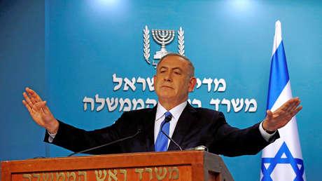 El primer ministro israelí, Benjamin Netanyahu, asiste a una reunión en Jerusalén.