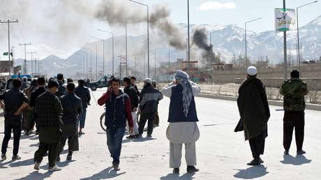 Enfrentamientos entre los talibanes y el ejército afgano en Kabul, Afganistán, 1 de marzo de 2017.