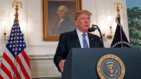 El presidente de EE.UU., Donald Trump, habla sobre el tiroteo masivo en una escuela secundaria de Florida en un discurso en la Casa Blanca (Washington, EE.UU.), 15 de febrero de 2018.
