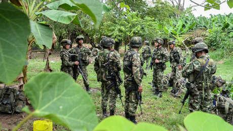Soldado colombiano en Arauquita, departamento de Arauca, Colombia, el 23 de marzo 2017.