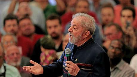 El expresidente de Brasil, Lula da Silva, durante un acto el 3 de febrero de 2018.
