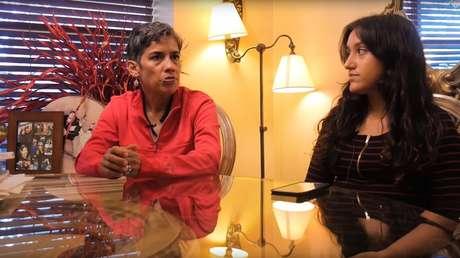 Captura de pantalla en que aparece Mari López con su sobrina, Liz.