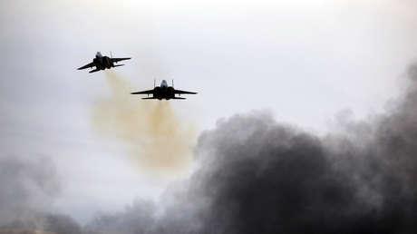Dos aviones F-15 de la Fuerza Aérea de Israel. Imagen ilustrativa.