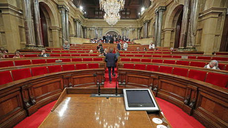 Parlamento de Cataluña, España, 27 de octubre de 2017.