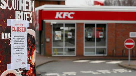 Un restaurante de KFC cerrado, Coalville, Reino Unido, el 19 de febrero de 2018.