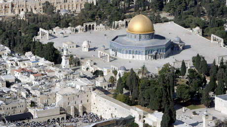 Vista aérea del Domo de la Roca, Ciudad Vieja de Jerusalén, 10 de octubre de 2006.