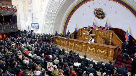 El presidente venezolano, Nicolás Maduro, presenta el informe anual del estado de la nación a la ANC. 15 de enero de 2018.