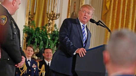 El presidente de EE. UU., Donald Trump, en Washington, EE. UU., El 20 de febrero de 2018.