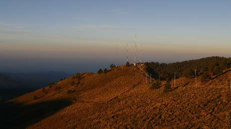 Observatorio Atmosférico Altzomoni ubicado en el Estado de México.