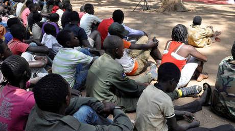 Niños de Sudán del Sur, liberados por grupos armados en la ciudad de Yambio, el 7 de febrero de 2018.