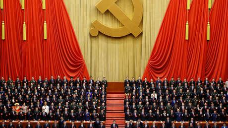 La sesión de clausura del XIX Congreso Nacional del Partido Comunista de China en el Gran Palacio del Pueblo en Pekín, China, el 24 de octubre de 2017.