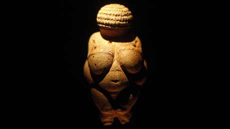 La Venus de Willendorf en el museo