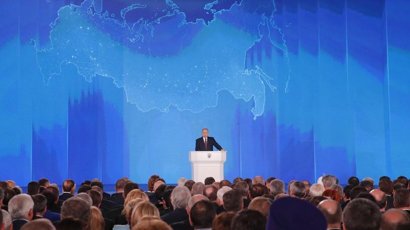 VIDEO: El principal discurso anual de Vladímir Putin ante el Parlamento ruso