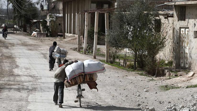 """""""Los rebeldes obstaculizan la evacuación de civiles de Guta para usarlos como escudos humanos"""""""