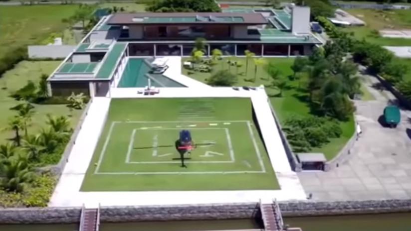 VIDEO: La lujosa mansión donde Neymar estará durante su recuperación