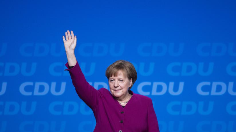 Socialdemócratas alemanes aprueban coalición gubernamental con partido de Merkel