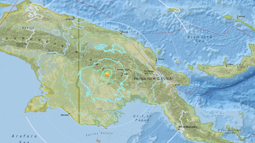 Fuerte sismo sacude Papúa Nueva Guinea, el quinto en una semana
