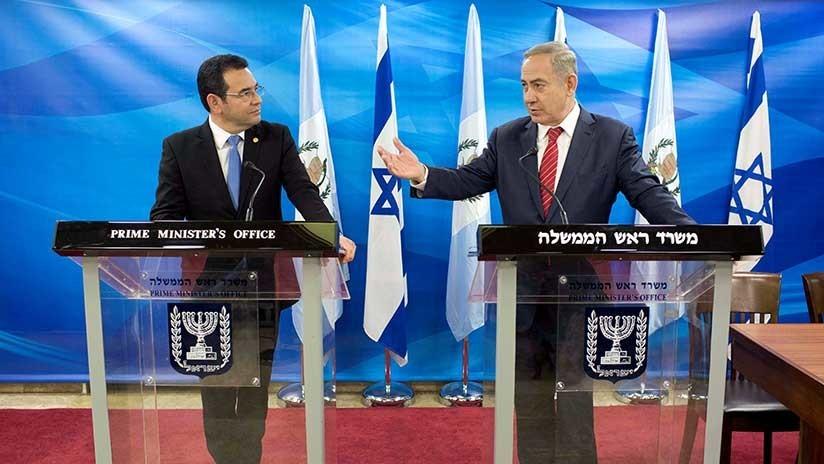 """Dios le bendiga"": Netanyahu insta a Guatemala a acelerar el traslado de su embajada a Jerusalén"
