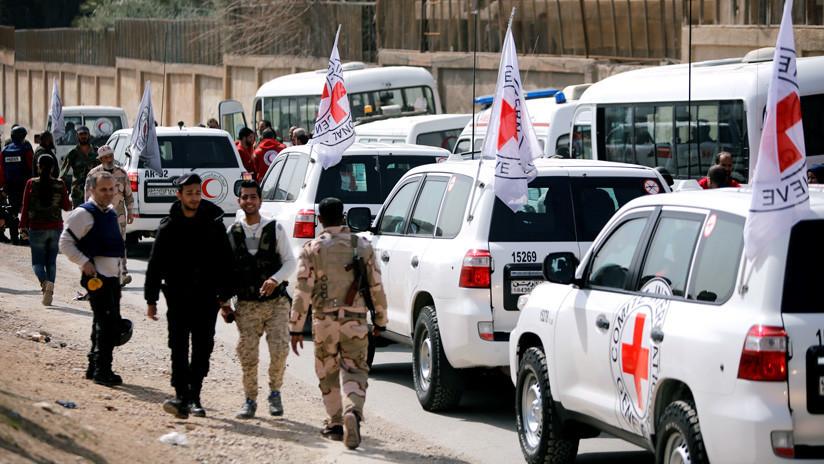 El convoy con ayuda humanitaria empieza a entrar en Guta Oriental
