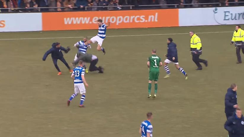 VIDEO: Un equipo pierde por goleada y sus hinchas agreden a los rivales
