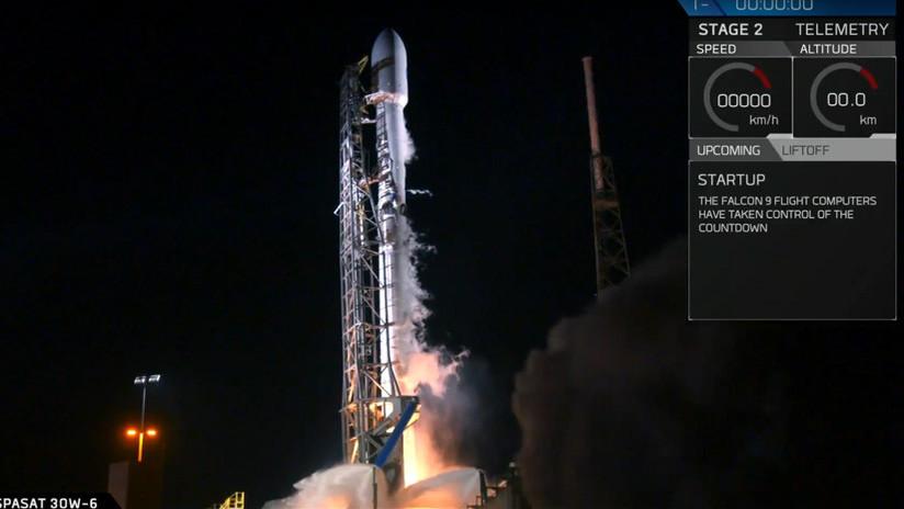 VIDEO: SpaceX lanza el satélite español Hispasat 30W-6, del tamaño de un autobús
