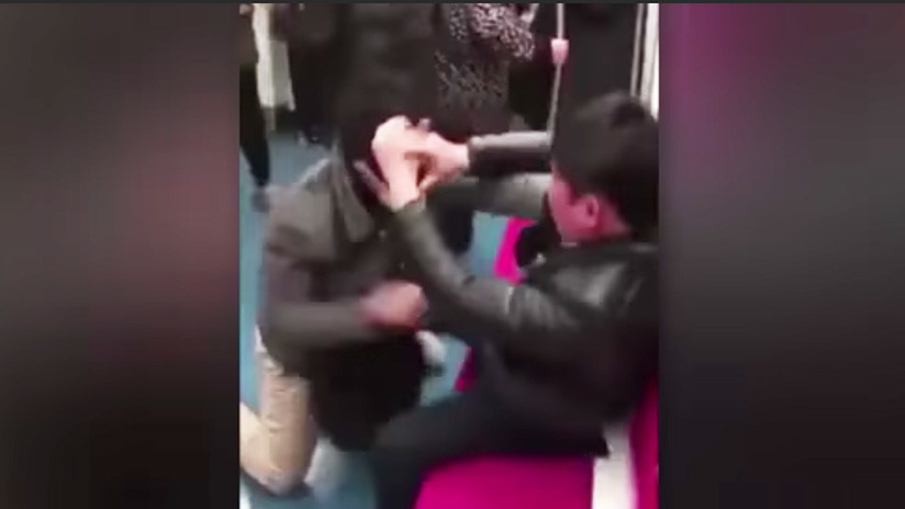 FUERTE VIDEO: Brutal pelea en el metro de Pekín