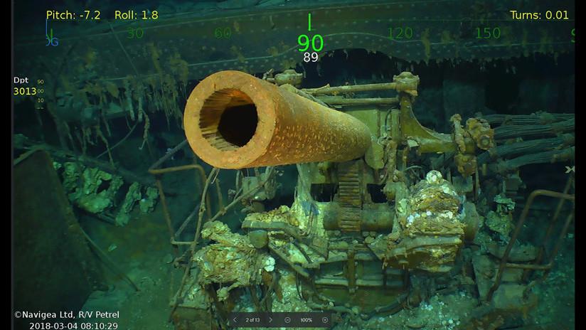 VIDEO, FOTOS: Descubren los restos de un portaviones de EE.UU., hundido hace 76 años