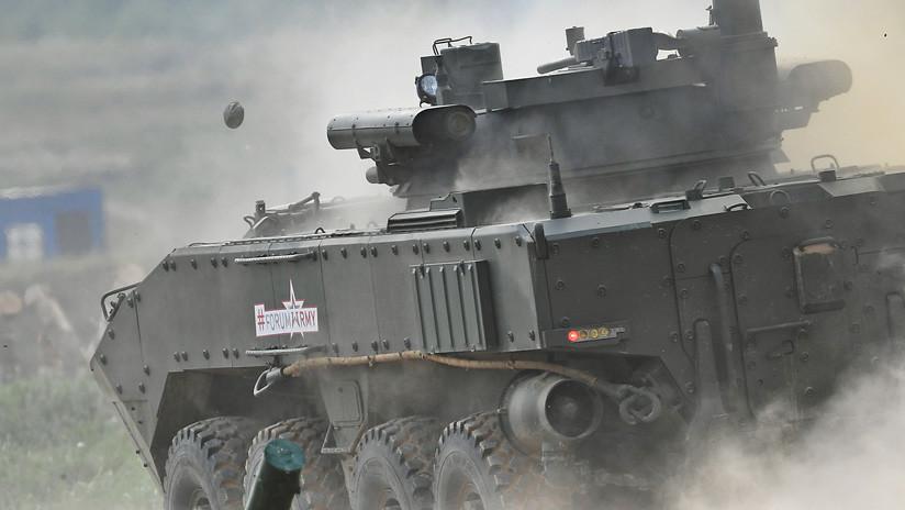 Así será el nuevo tanque sobre ruedas ruso