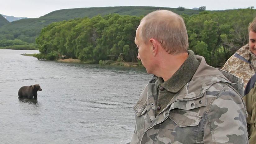 Publican el video del encuentro de Vladímir Putin con un oso