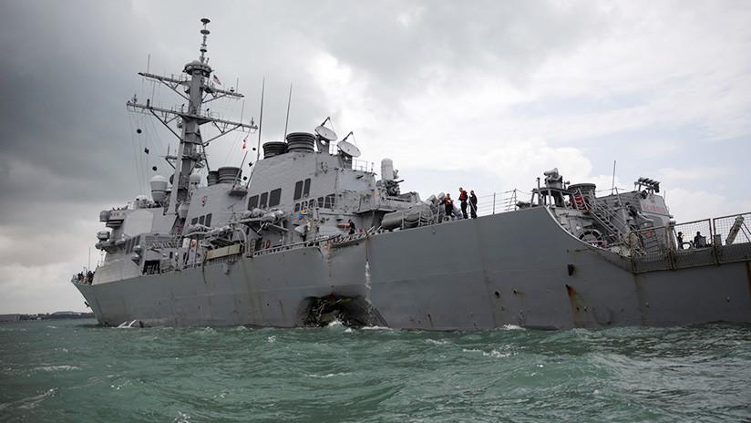 Revelan las causas de la colisión del buque de EE.UU. con una embarcación liberiana en Singapur