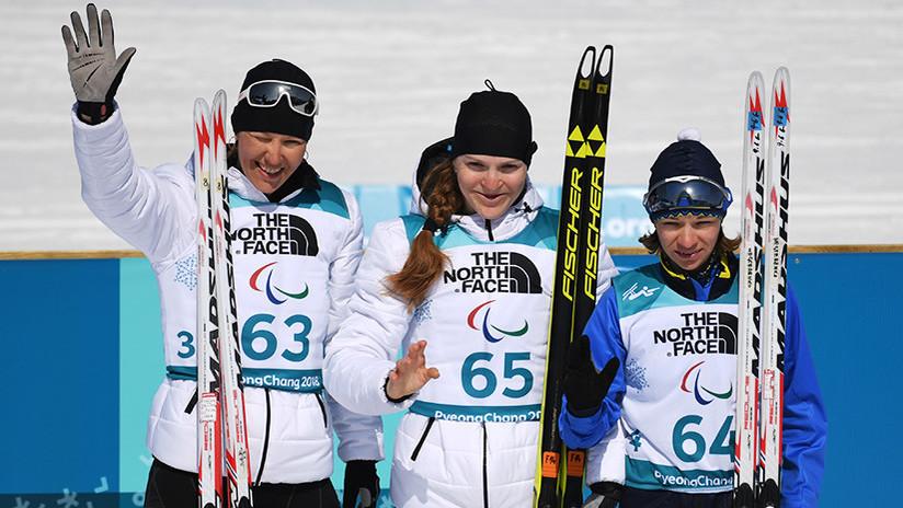 Atletas rusas ganan tres medallas de biatlón en los Paralímpicos de Invierno 2018