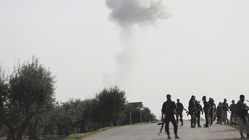VIDEO: Turquía lanza un ataque aéreo en la ciudad siria de Afrín