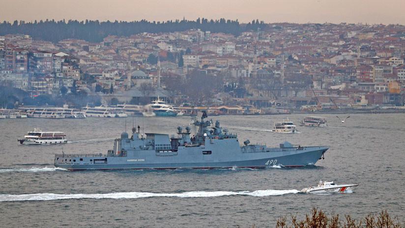 VIDEO: La fragata rusa Admiral Essen con misiles Kalibr zarpa rumbo al Mediterráneo