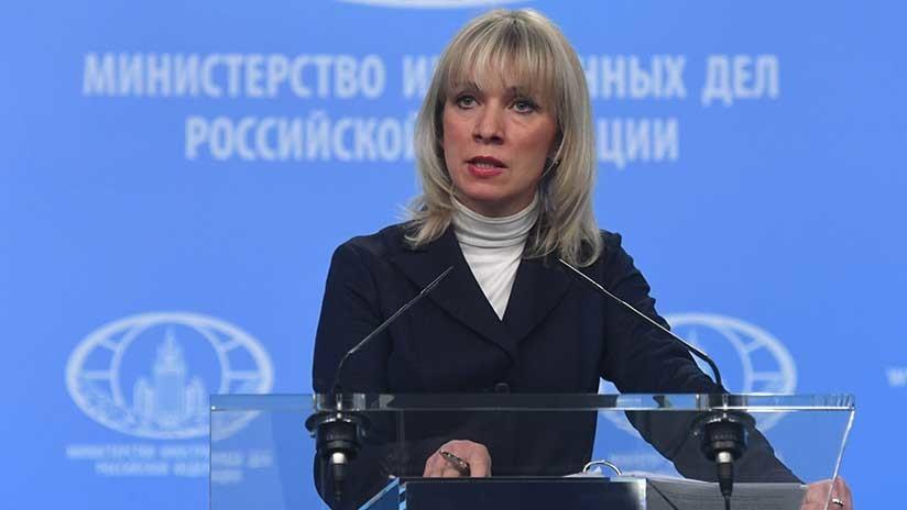 """Zajárova sobre invitación a Lavrov cancelada por May: """"Él no la había aceptado"""""""