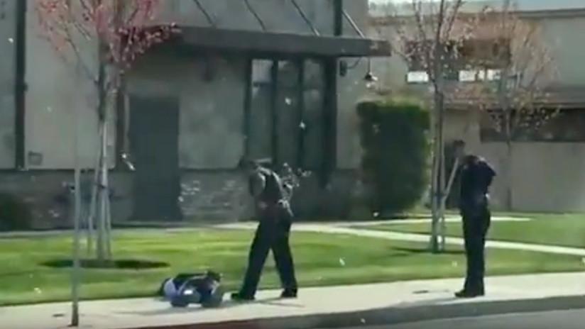 FUERTE VIDEO: Un fugitivo forcejea con la Policía y termina abatido