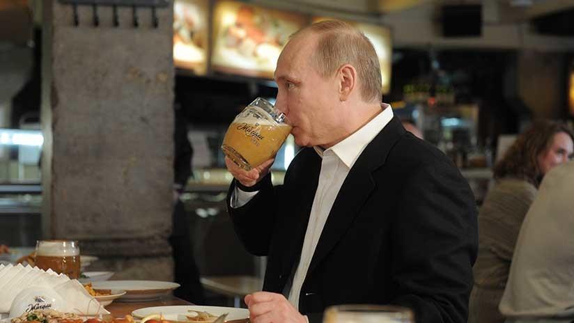 Putin confiesa que trata de beber menos cerveza por esta razón