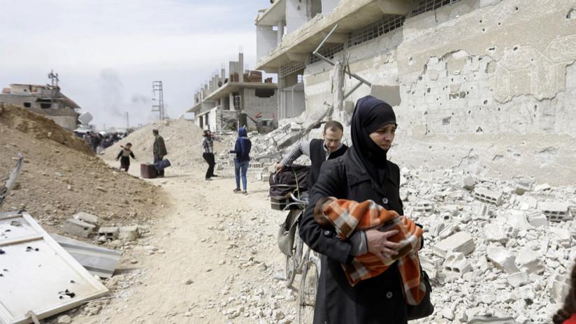 Evacuación de miles de civiles en Guta Oriental