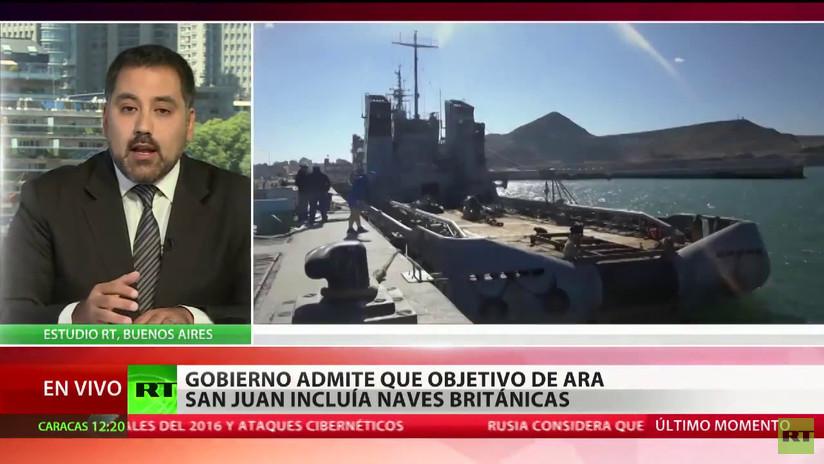 El Gobierno argentino admite que la misión del ARA San Juan incluía seguir a naves británicas