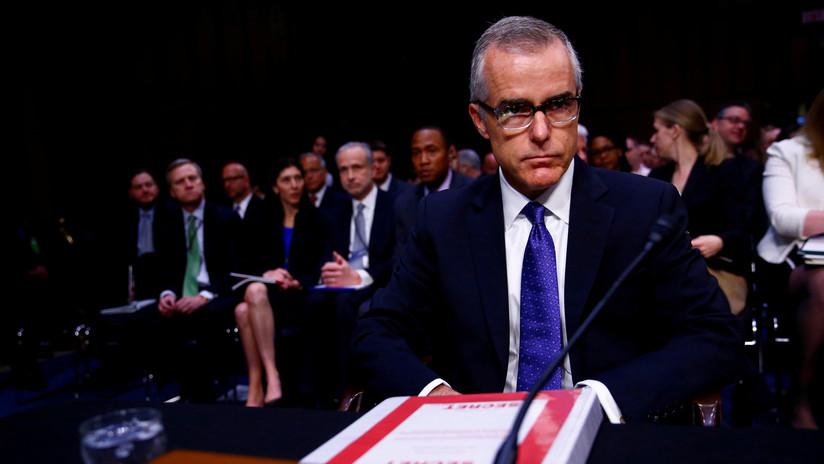 El fiscal general de EE.UU. despide del FBI al exsubdirector Andrew McCabe