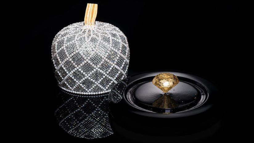 Recubierto en oro comestible: Exponen en Portugal el bombón más caro del mundo (FOTOS)