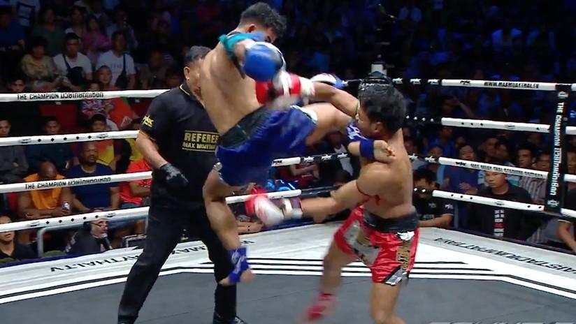 VIDEO: Un luchador de Muay Thai noquea a su rival con un impresionante golpe a lo 'Mortal Kombat'
