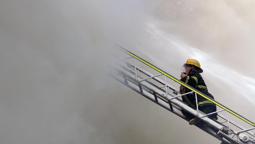 VIDEO, FOTOS: Gran incendio se reporta en un hotel de Manila